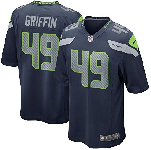 Nike Men's Shaquem Griffin Navy Seattle Seahawks 2018 NFL Draft Pick Game Jersey Size M