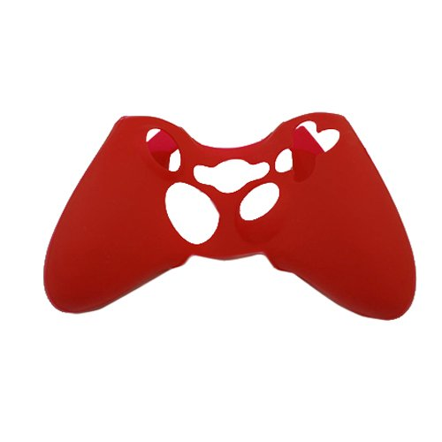 Red Silicone Protector Skin Case Cover for Xbox 360 Game Controller