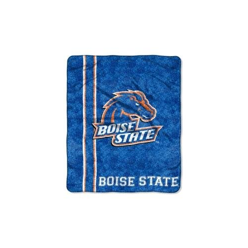 Officially Licensed NCAA Boise State Broncos Jersey Sherpa on Sherpa Throw Blanket, 50