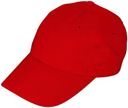DALIX Youth Childrens Cotton Cap Plain Hat Black Khaki Navy Pink Red White
