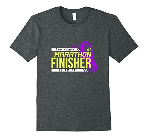 Mens Las Vegas Nevada Marathon Finisher Tee Shirt 2017 XL Dark - Vegas Mile High Shops Las