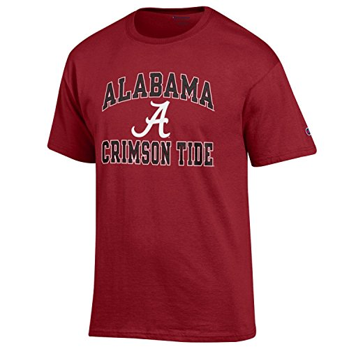 Champion NCAA Men's Shirt Short Sleeve Officially Licensed Team Color Tee, Alabama Crimson Tide, Large ()