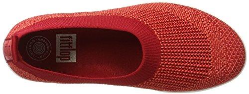 FitFlop Damen Uberknit Ballerina Walking Slip-On Klassisches Rot
