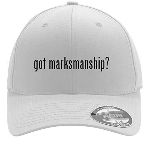 got Marksmanship? - Adult Men's Flexfit Baseball Hat Cap, White, Small/Medium