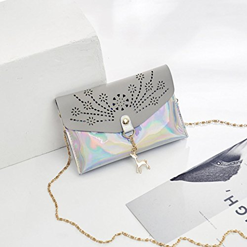 Women Bags Shoulder Lavany Crossbody Deer Out Handbags Mini Gray Bags Decor Hollow PU Xf1xwf