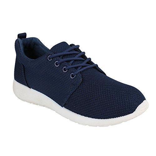 Bottes Unisexe Paradis Femmes Hommes Chaussures De Sport Course Sur La Taille Flandell Bleu Fonc