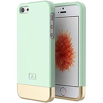 iPhone SE Case, Encased (SlimShield Series) Ultra Thin Hybrid Cover (Mint Green)