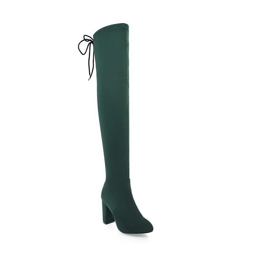 Aimint EZR00405, Damen Durchgängies Plateau Sandalen mit Grün Keilabsatz, Grün mit - grün - Größe  41 9e916f