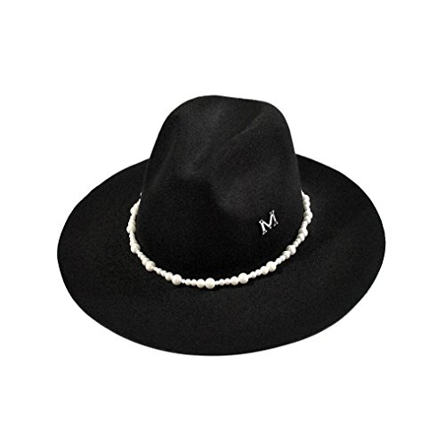 GBSELL Fashion Solid Color Women Lady Beach Party Fairground Wool Felt Bowler Fedora Costumes Hat Caps (Bowler Costumes)