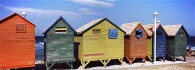 Diseño de casetas de colores en la playa, St, James de playa, Cape Town, provincia Western Cape, de Sudáfrica Póster panorámico 36 x 12 imágenes: Amazon.es: ...