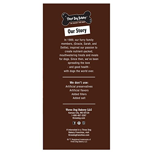 lovely Three Dog Bakery Grain Free Soft Baked Meaty Wafers for Dogs, 26 oz