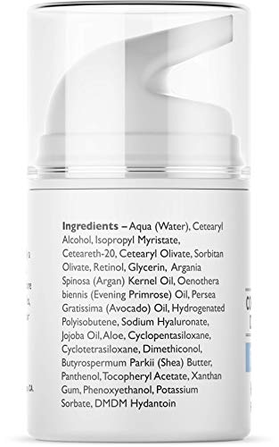 41VEAbpYlmL - Pure Biology Retinol Moisturizer Cream with Hyaluronic Acid, Vitamins B5, E & Breakthrough Anti Aging, Anti Wrinkle Complex - Face & Eye Skin Care for Men & Women, All Skin Types, 1.7 OZ