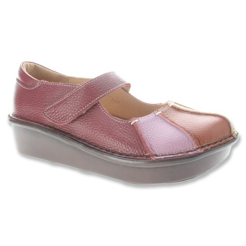 Step Leather Rainbow Women's Spring Multi Red Clogs 8ZqgZBwf