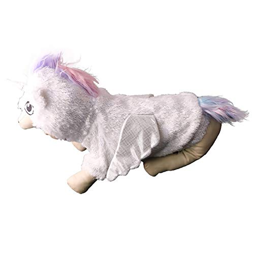 Angel Dog Costume Halloween Unicorn Dog Costume - Cute Dog Cosplay Costume Fashion Dress for Puppy Small Medium Large Dogs Special Events Funny Photo Props Accessories ()