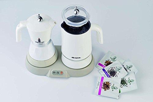 Ariete 1344 Breakfast Station - 3 prodotti in 1: Moka-Bollitore-Montalatte a caldo e freddo, 500W, 4/2 tazze… 5