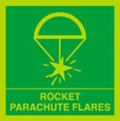 Rocket Parachute Flares Safety Warning Vinyl ()