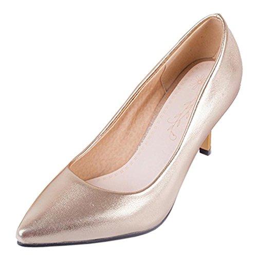Kitten Women KemeKiss Heels Shoes Gold Pumps Casual A4qEwqp ... 9cbad39b0