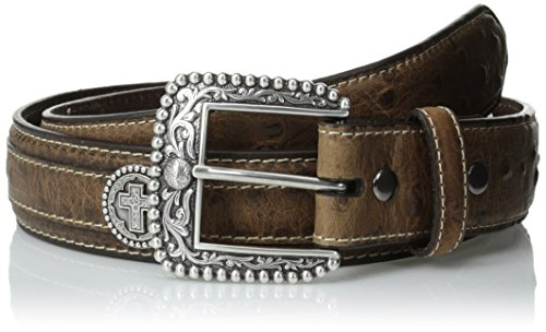 Ariat Men's Cross Concho Elephant Overlay, Brown, - Concho Cross