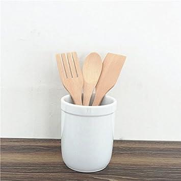 Geschirr, Buche Backen, Drei Stück Holz Schaufel, Gabel aus Holz, Keine Color, kein Wachs Geschirr, Holzlöffel: Amazon.es: Hogar