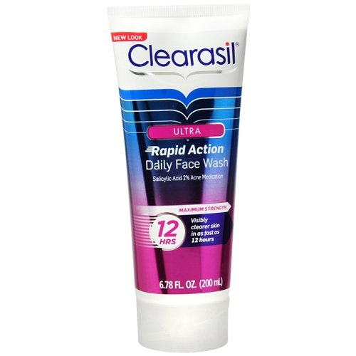 Clearasil Ultra Daily Face Wash Rapid Action Acne Wash 6.78 fl oz (200 ml) Pack of ()