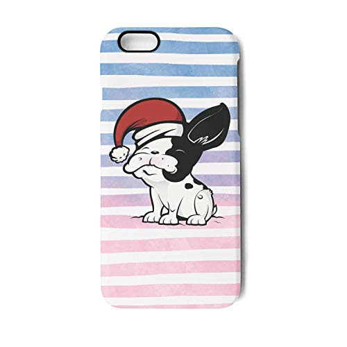 Vekq iPhone 6 plus/6s Plus Case Pug Dog Reindeer Shock Absorption TPU Back Cover Compatible with iPhone 6 plus/6s -
