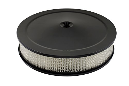 14' Chrome Air Cleaner - Mr. Gasket 9790BP Flat Black 14'' Competition Air Cleaner