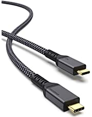 Thunderbolt 4 Cable 6.6Ft, Maxonar Thunderbolt 4 Cable 40Gbps with 100W Charging and 8K@30Hz 5K@60Hz or Dual 4K Video Compatible with Thunderbolt 4, USB4, Thunderbolt 3, USB-C, 2020 M1 Mac Books