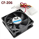 4-Pin Molex 60mm CPU Case / Power Supply Sleeve Bearing Cooling Fan - 700313