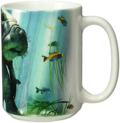 The Mountain Unisex-Adult's Manatees Collage Coffee Mug, White, 15 oz