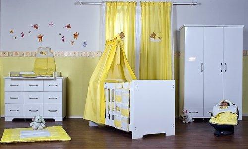 10 Teiliges Hochglanz Babyzimmer Mit Sleeping Bear Gelb: Amazon.de: Baby