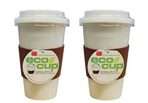 Eco-Cup, Single-Wall Porcelain Mug - Pack of Two