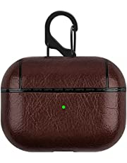Fashion Leather airpods Pro Case Cover Shockproof anti-Water Case - dark brown