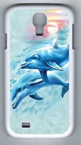 Dolphin Sunset Custom Samsung Galaxy I9500/Samsung Galaxy S4 Case Cover Polycarbonate White