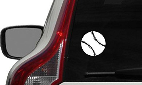 (Baseball Ball Sports Car Vinyl Sticker Decal Bumper Sticker for Auto Cars Trucks Walls Windows and More (WHITE))