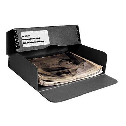 Archival Methods Drop Front Box 3'' 13.75 x 19.5'', Black by Archival Methods