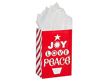 Amazon Pack Of 250 Rose Peppermint Holiday Paper Bags 55 X