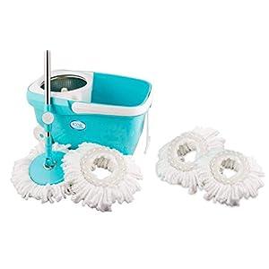 KONVIO Neer Spin Mop Bucket with 180 Degree Bendable Handle   Cleaning Mop Set with Bucket  Floor Cleaning Mop Bucket…