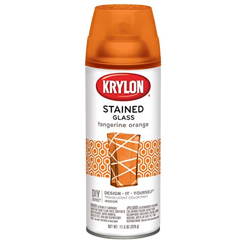 (Krylon K09034000 Stained Glass Aerosol Paint, 11.5 Ounces, Tangerine Orange)