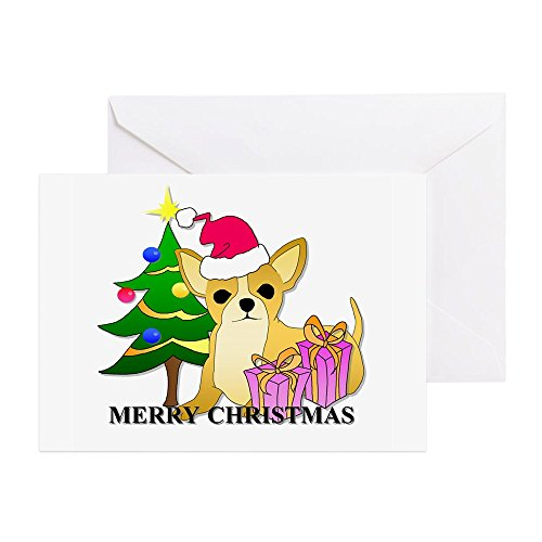 CafePress - Chihuahua Christmas - Greeting Card, Note Card, Birthday Card, Blank Inside Glossy Chihuahua Christmas Cards