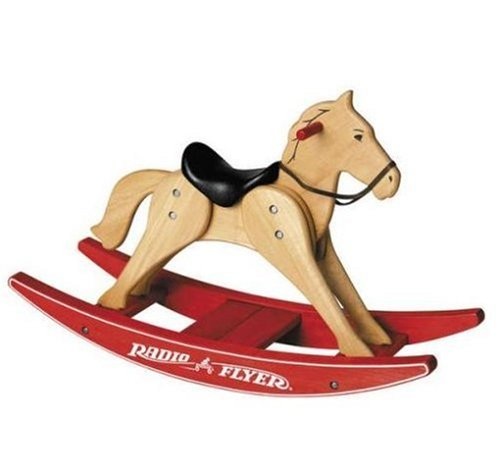 Radio Flyer Classic Wood Rocking Horse (Radio Flyer Rocking Horse)