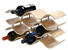 Store your favorite vino on the counter with this attractive Bali wine rack from Oenophilia. Known worldwide for its arts, including its woodworking and sculpture, the Indonesian culture is the inspiration for this elegant rack, reminiscent o...