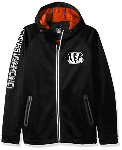 Nfl Football Hooded Jacket - G-III Sports NFL Cincinnati Bengals Motion Full Zip Hooded Jacket, 5X, Black