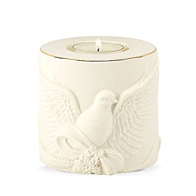 "Lenox Radiant Light Dove Votive - 3.25"" D Crafted of Porcelain and Accented with 24K Gold For Decorative Use Only - living-room-decor, living-room, candles - 41VEGX8H3AL. SS400  -"