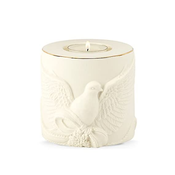 """Lenox Radiant Light Dove Votive - 3.25"""" D Crafted of Porcelain and Accented with 24K Gold For Decorative Use Only - living-room-decor, living-room, candles - 41VEGX8H3AL. SS570  -"""