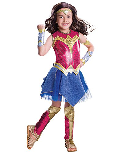 - 41VEGihNMnL - Rubie's Costume Girls Justice League Deluxe Wonder Costume