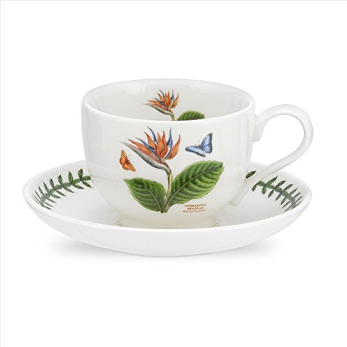 PORTMEIRION EXOTIC BOTANIC GARDEN Teacup & saucer bird of paradise