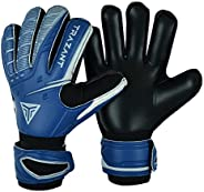 Goalkeeper, Soccer Goalie Gloves with 3mm Latex Palm for Better Grip and Fingersaves for Ultimate Protection o