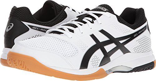 (ASICS Men's Gel-Rocket 8 White/Black/Silver 9 D US)