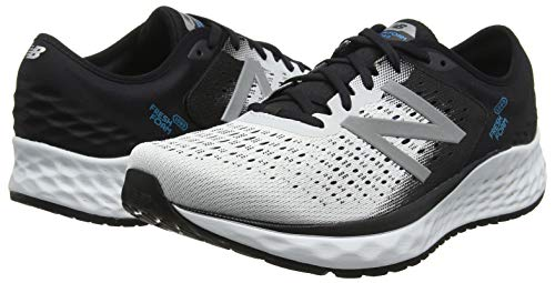 New Balance Men's 1080v9 Fresh Foam Running Shoe, White/Black/deep Ozone Blue, 7 D US by New Balance (Image #5)