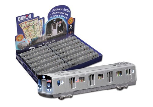 Daron MTA Pullback Subway Car (F Train)
